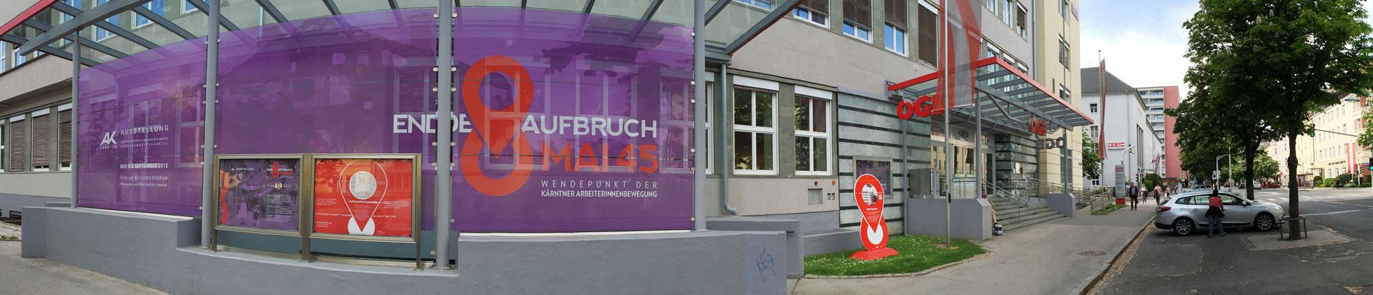 Ein Blickfang gleich am Anfang: Gestaltung des Eingangsbereiches zum ÖGB Haus in der Bahnhofstraße
