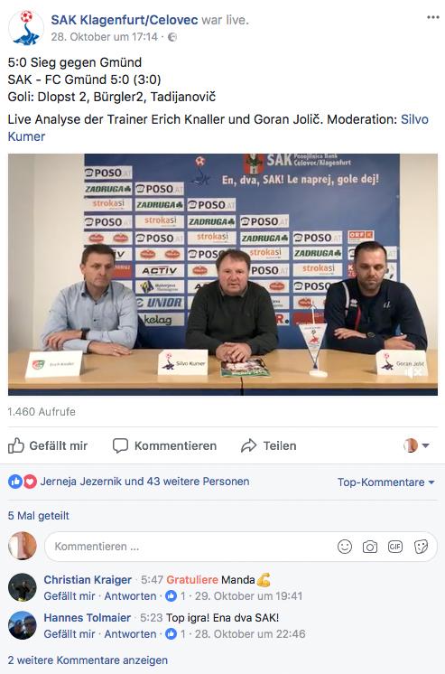 Facebook nastop SAK je ena najbolj učinkovitih in zanimivih promocij sproščene dvojezičnosti na Koroškem, in dvojno koristen, ker doseže v posebni meri tudi mlado publiko.